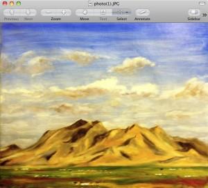 Mountain range, viewed across Phoenix from Camelback