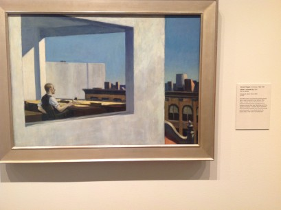 Edward Hopper with yet another view of urban isolation