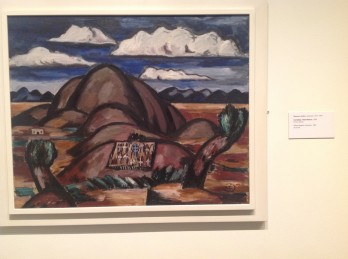 Marsden Hartley lets those clouds hang out there like mountains