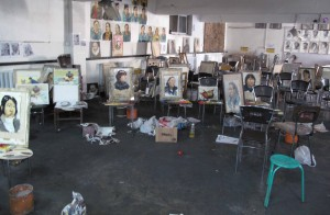Lots of work underway in this room