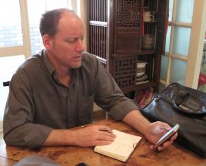Matt, at work in Beijing
